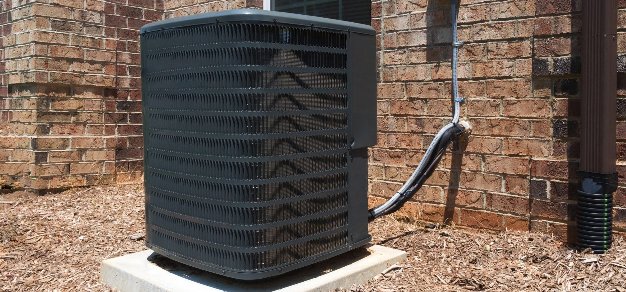 Air conditioning unit outside a home